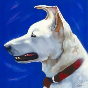 Painting of Carl the dog