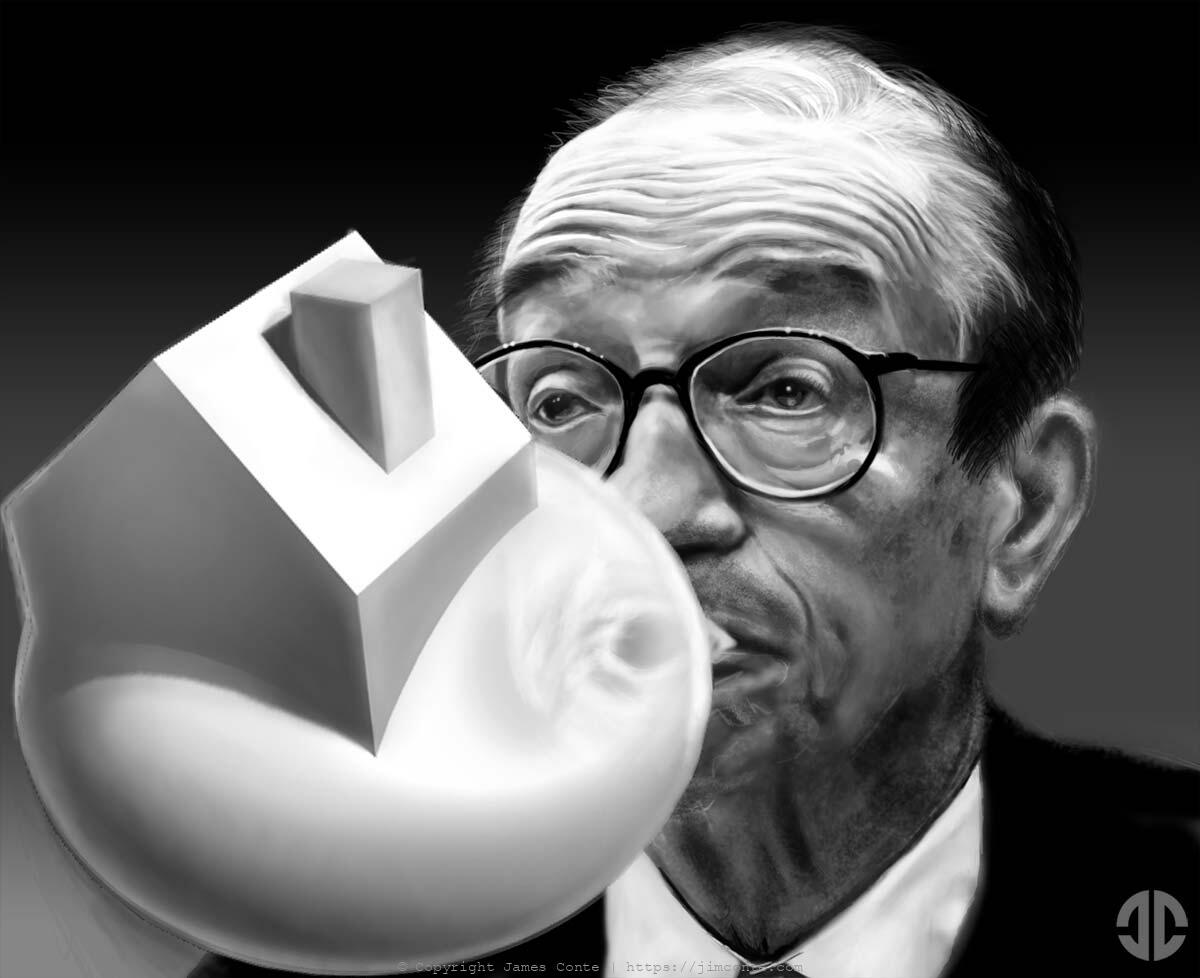 Illustration of Alan Greenspan